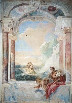 Achilles consoled by his mother, Thetis, from 'The Iliad' by Homer, 1757 (fresco)