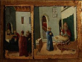 Two Scenes from the life of St. Savino (panel)