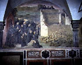 St. Benedict Restoring Life to the Crushed Monk detail from a fresco cycle of the Life of St. Benedi