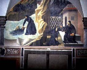St. Benedict Sending Mauro to Save the Drowning Placidus from the Lake detail from the fresco cycle