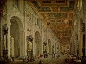 Interior view of the church San Giovanni in Laterano in Rome.