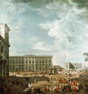 View of the Piazza del Quirinale, Rome