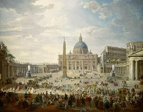 Rome / Saint Peter s / Pannini / Paint.