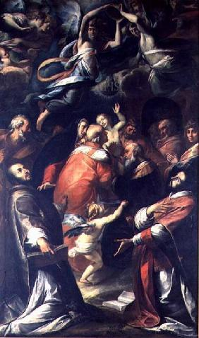 Circumcision of Christ with St. Ignatius of Loyola and St. Francis Xavier