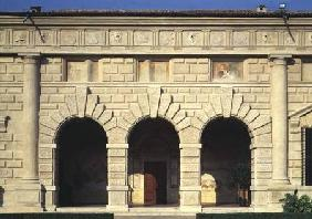 The Loggia delle Muse northern facade of the Cortile d'Onere designed