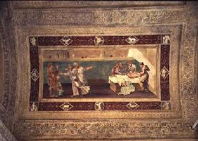 Scene of a doctor attending a sick man, ceiling painting from the Giardino Segreto