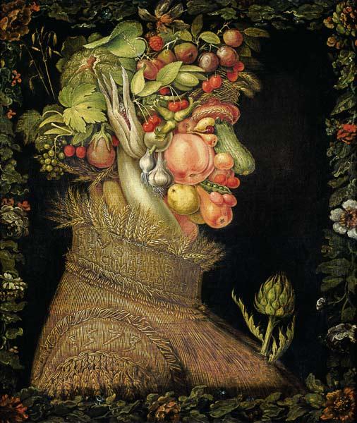 Summer - Giuseppe Arcimboldo as art print or hand painted oil.