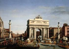Entry of Napoleon I (1769-1821) into Venice
