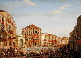 Napoleon I (1769-1821) Presiding over a Regatta in Venice
