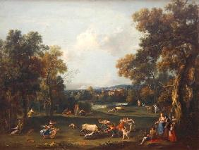 Hunt for the Bull, c.1732 (oil on canvas)