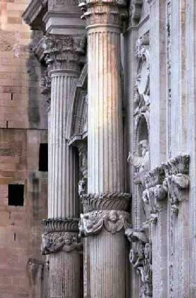 Detail of the Portal Columns from the Duomo