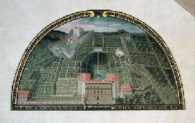 Fort Belvedere and the Pitti Palace from a series of lunettes depicting views of the Medici villas