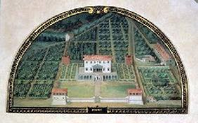 Villa Poggio a Caiano from a series of lunettes depicting views of the Medici villas