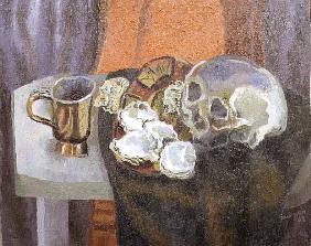 Still Life with a Skull, 1962 (oil on canvas)