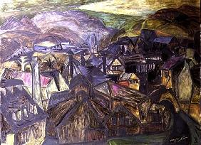 The Chain Works, Pontypridd, 1955 (oil on canvas)