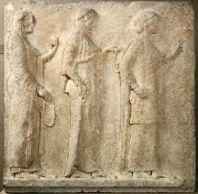 The Three Graces, relief from the Passage of the Theores, from Thasos