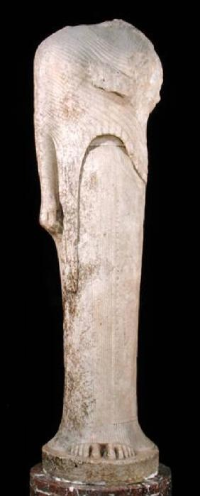 Kore figure dedicated by Cheramyes to Hera, from the Sanctuary of Hera, Samos