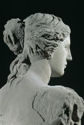 Venus de Milo, detail of the back of the head, Hellenistic period