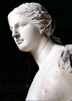 Venus de Milo, detail of the head, Hellenistic period