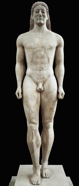 Anavysos Kouros, funerary statue of Croisos (560-546 BC) King of Lydia