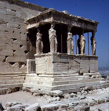 Porch of the Maidens, Erechtheion - Greek School as art ...