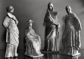 Group of draped women, from Tanagra