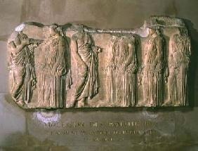 Organisers and ergastines (peplos-bearers), section of the Great Panathenaic procession from the eas