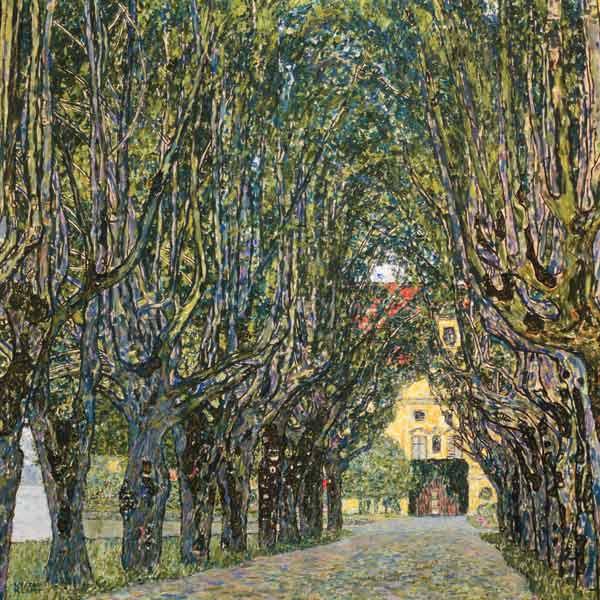 Avenue In Schloss Kammer Park Gustav Klimt As Art Print