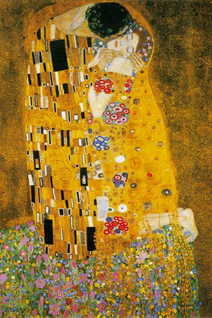the kiss detail oil painting of gustav klimt as art print or hand painted oil. Black Bedroom Furniture Sets. Home Design Ideas