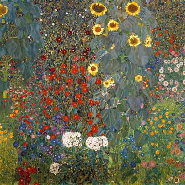 Oil Painting Of Gustav Klimt As