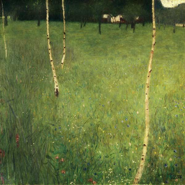 Farmhouse with birch trees (Bauenhaus mit Birken)