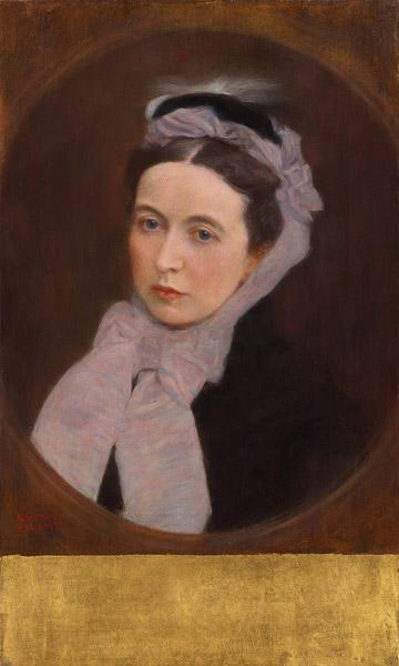 Portrait of a Lady with purple scarf
