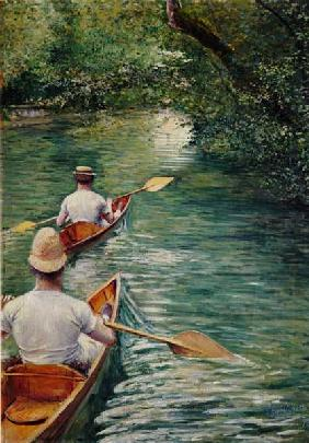 Canoes , Caillebotte