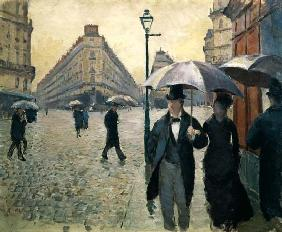 Rainy day, Paris street (preparatory sketch)