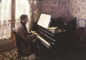 Young Man Playing the Piano