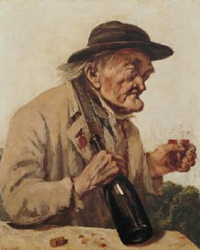 Old Man with a glass of wine