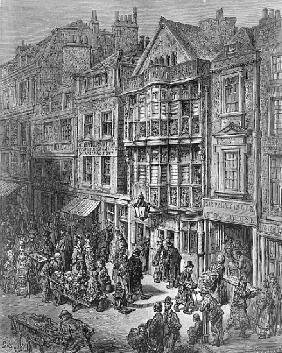 Bishopsgate Street, from ''London, a Pilgrimage'', written by William Blanchard Jerrold (1826-94) &