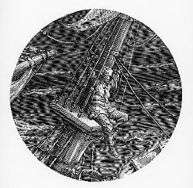 The Mariner aloft in the poop of the ship, scene from ''The Rime of the Ancient Mariner'' S.T. Coler