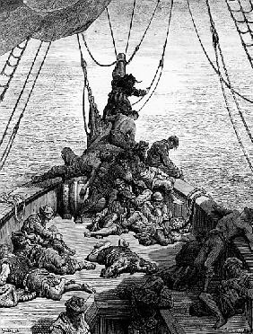 The sailors becalmed and tormented by thirst, scene from ''The Rime of the Ancient Mariner'' S.T. Co