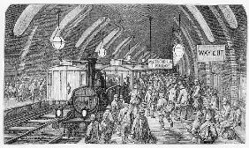 The workmen''s train, from ''London, a Pilgrimage'', written by William Blanchard Jerrold (1826-94)