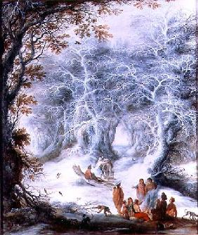Winter Landscape with a Gypsy Encampment