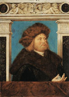 Portrait of a 52-year-old man with fur hat