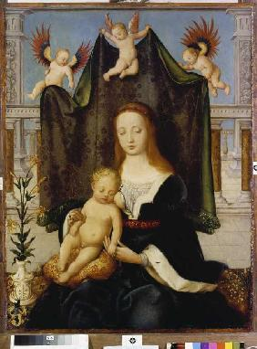 Madonna with child, so-called Böhlersche Madonna.