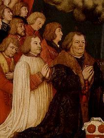 Votive picture of Ulrich Schwarz and his family's detail: Ulrich and sons