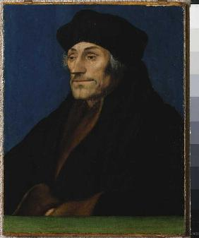 Portrait of the Erasmus of Rotterdam.