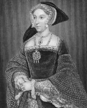 Portrait of Jane Seymour (c.1509-37) from 'Lodge's British Portraits', 1823 (engraving)