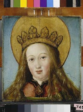 Head of a crowned saint