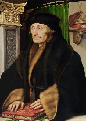 Portrait of Erasmus, 1523 (oil and egg tempera on panel)