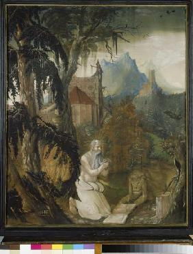 The St. Hieronymus in the wilderness.