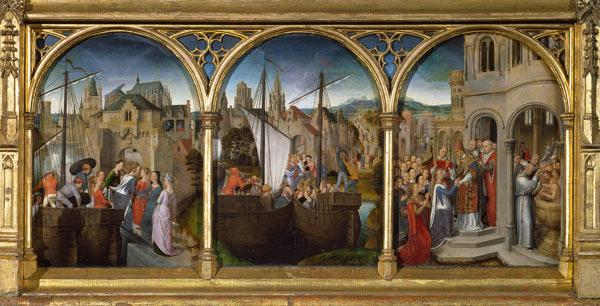 The arrival of St. Ursula and her companions in Rome to meet Pope Cyriacus